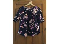 Women's purple floral top