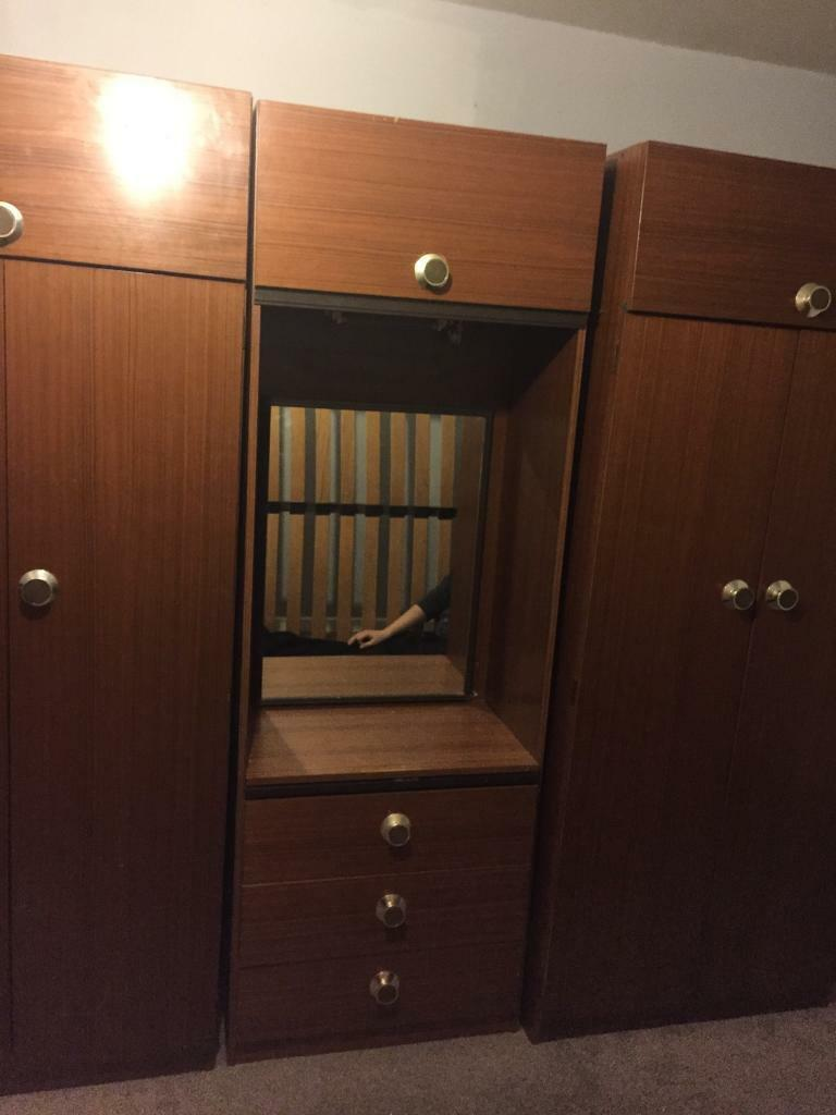 Triple wardrobein Lincoln, LincolnshireGumtree - Triple wardrobe with draws and overhead cupboards good solid condition £30 Ono