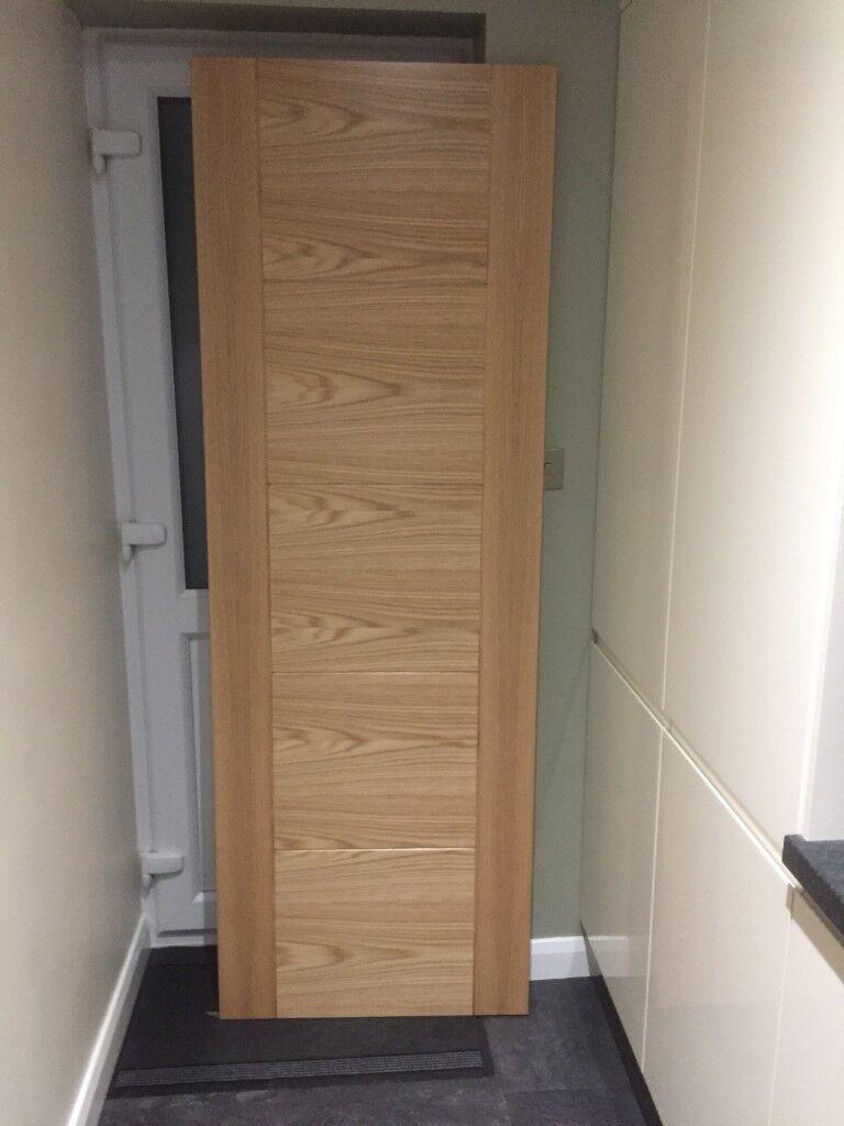 Wickes Thame Internal 5 Panel Oak Door 1981 X 686mm