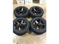 "Brand new set of 20"" alloy wheels and All terrain tyres Ford Ranger Mitsubishi L200 Shogun"