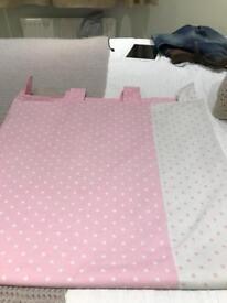 Next pink polka dot curtains