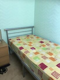 STANDARD SIZE SINGLE BED WITH MATTRESS IMMACULATE CONDITION