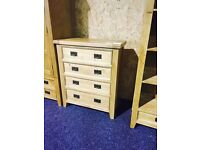 (ex Display) Solid OAK wardrobe and chest of drawers