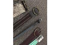7 belts, some unused - bargain