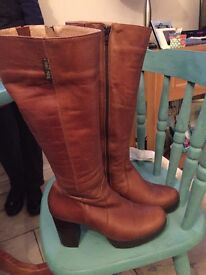 Russell & Bromley Ladies brown leather boots size 6