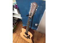 Taylor 12 string acoustic guitar