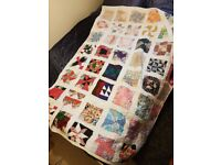 Hand stitched double sided patchwork quilt