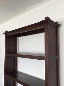 Dark Wood Shelf Unit/Bookcase