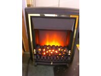 Be Modern Comet Black Brass Insert Electric Fire. Mint Condition