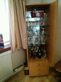 Drinks cabinet with 3 drawers