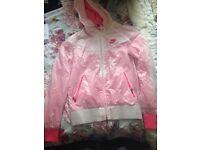 Pink & white Nike jacket