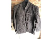 Burtons brown suede jacket