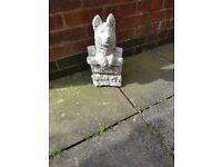 'Welcome' dog garden ornament