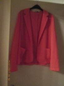 Ladies lovely Peach coloured jacket size 12