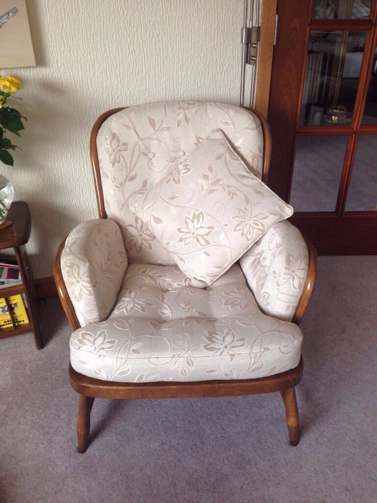 Ercol Quot Windsor Jubilee Quot Two Single Chairs For Sale