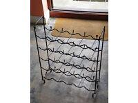 Plastic coated steel wine rack