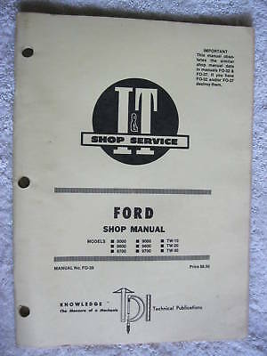 It Ford 80008600870090009600 Tractor Shop Manual