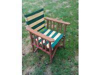 vintage stately home garden chair