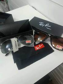 Rayban sunglasses onlly £60 genuine with baggage and accesories