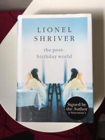 Lionel Shriver signed hardback - holiday reading