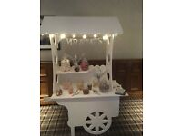 Candy cart hire £50 without sweets lights banner sweet bags stunning all occassions set up free