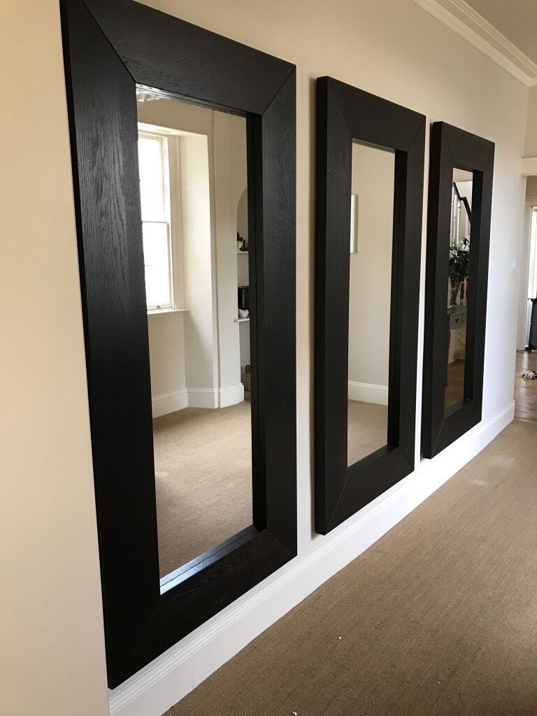 Three Large Ikea Mongstad Wooden Mirrors Can Be Sold Seperately