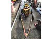 Industrial diesel engine driven water pump