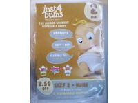 Just for Bums Nappies Size 2 (3-6kg) 66 per box