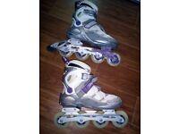 Women Inline Skates, Topic Noisy, 80mm wheels, size 5.5