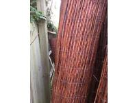 Premium willow fencing 2m high x 4m long