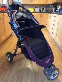 ***SOLD*** City Mini Baby Jogger - Purple in excellent condition (with rain cover)