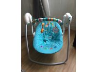 Baby swing and bouncer chair