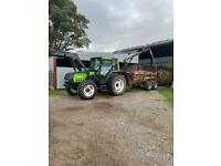 Valtra 6300 tractor and timber trailer