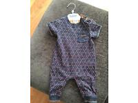 Baby boys ted baker rompers 0-3 months