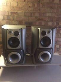 2 x AIWA SX-WZL80 Subwoofer speakers