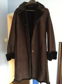 NEXT BLACK SUEDE COAT - size 8