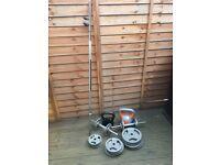 Set of weights: plates, barbell, dumbbells,kettlebels