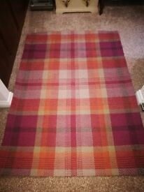 Unused NEW Next rug - 100% wool hand made