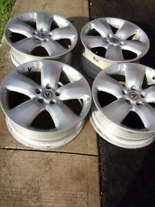 ACURA RDX FACTORY OEM 18 INCH ALLOY WHEEL SET OF FOUR IN GOOD CONDITION.