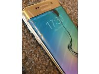 For sale: Samsung Galaxy S6 edge Gold with charging plate
