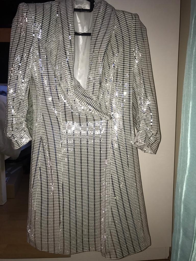 2bc0e859d74 Zara sequin blazer dress