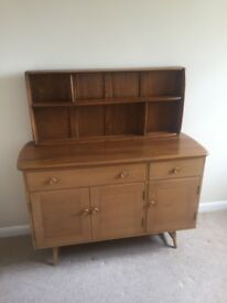 Ercol vintage lovely '60s Solid Elm and Beech sideboard and wall unit
