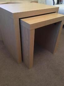 Next opus oak nest of tables