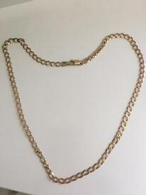 "9ct gold solid curb chain 21"" 13.5grams sensible offer considered!"