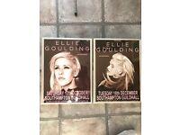 Ellie Goulding framed original concert posters x 2