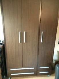 Matching 3 door wardrobe and chest of drawers