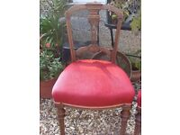 Lovely Pair of Edwardian Walnut Coloured Chairs