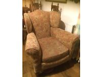 UNIQUE VINTAGE ARMCHAIR - Very Comfortable and Well-Built Upholstered Armchair