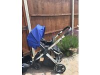 Oyster travel system boys pushchair