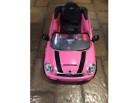 Childs Pink Mini Cooper Electric Car